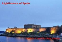 Lighouses Of Spain - Galicia/Castillo De San Antón Postcard Collector - Faros