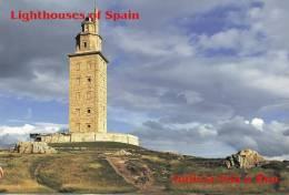 Lighouses Of Spain - Galicia/Isla A Rua Postcard Collector - Phares