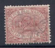San Marino 1894 2 C. (Sass.26) Usato /Used VF - Saint-Marin