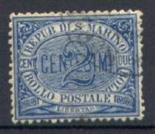 San Marino 1892 2 C. (Sass.12) Usato /Used VF - Usados