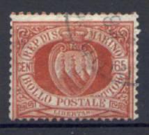 San Marino 1892 65 C. (Sass.19) Usato /Used VF - Usados