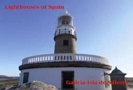 Lighouses Of Spain - Galicia/Isla De Sálvora Postcard Collector - Phares
