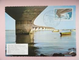 CARTE MAXIMUM MAXIMUM CARD VIADUC D'OLERON FRANCE - Cartoline Maximum