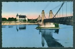 Sully Sur Loire Le  Pont Suspendu Et Le Chateau   - LAB09 - Sully Sur Loire