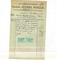 Quaregnon - 1925 - Masion Alfred Ruelle - Imprimerie & Papeterie