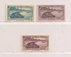 GABON  ( GABO - 8 )  1932  N° YVERT ET TELLIER   N° 125 - 126 - 128  N* - Gabon (1886-1936)