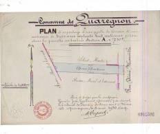 4 Plans De Quaregnon Sur Papiers Timbrés (rues....) - Geographical Maps