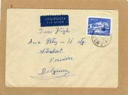 Enveloppe Brief Cover Legiposta Par Avion Budapest To Stembert Verviers Belgium - Ungheria