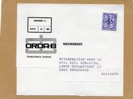 Bandelette Pour Magazine Journaux Nieuwsbrief Brussel X Metropolitan Bank Antwerpen - Préoblitérés