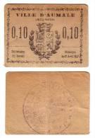 1917 // Algérie // Bon De Nécessité // Ville D´ AUMALE // 10 Cts - Bons & Nécessité