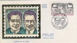 FDC 1981 DIEUDONNE COSTES # J. LE BRIX # AVIATEUR # BREGUET 19 # DEWOITINE # DESSINATEUR  CLAUDE ANDREOTTO - 1980-1989