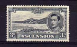 Ascension - 1940 - George VI 3d Definitive (Perf 13½) - MH - Ascension (Ile De L')