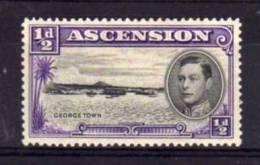 Ascension - 1938 - George VI ½d Definitive (Perf 13½) - MH - Ascension (Ile De L')