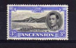Ascension - 1938 - George VI 3d Definitive (Perf 13½) - MH - Ascension (Ile De L')