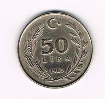 TURKIJE  50  LIRA   1985 - Turquie