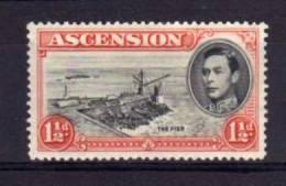 Ascension Island - 1938 - George VI 1½d Definitive (Perf 13½) - MH - Ascension (Ile De L')