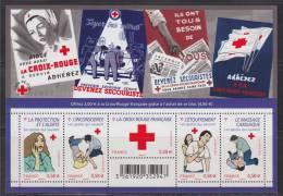 = Croix Rouge Protection Et Alerte Inconscience, Etouffement, Massage Cardiaque Et Croix Rouge F4520 4521 4522 4523 4524 - Blocs & Feuillets