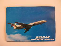 Postcard/Postal Balkan Bulgarian Airlines Tupolev 154 - 1946-....: Moderne