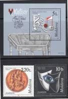 MOLDAVIE - N° 234/5  + Bloc N°19  **  (1998)  Europa - Moldova