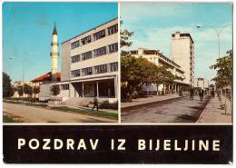 EUROPE BOSNIA BIJELJINA 2 FOTOS Nr. 24 OLD POSTCARD 1988. - Bosnia And Herzegovina