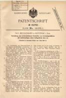 Original Patentschrift - P. Brüggemann In Kotzenau I. Schl. , 1906 , Feststeller Für Gattersägeblätter , Sägewerk !!! - Historische Dokumente