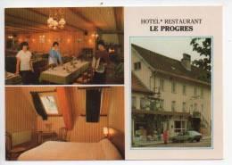 Ref 95  : Dept 25 CPSM ORNANS Hotel Restaurant Le Progrès - France