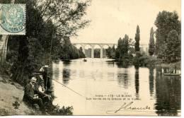LE BLANC - Les Bords De La Creuse Et Le Viaduc - Pecheurs - Le Blanc