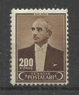 Turkey  1942 Mino 1132   MH  * - Turkey