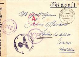 FELDPOST,CENSORED,CENSURE ,WW2,1945 COVER FROM GERMANY TO ITALY. - 2. Weltkrieg
