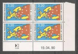 Coin Daté N°105 Service** Du 19.04.90 - Esquina Con Fecha