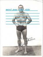 Photo    ( Homme Torce Nu ) Boxe Boxeur Lutte Catch  ( Dédicace ) - Dédicacées