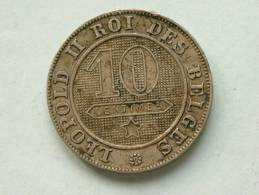 1895 / 10 Centimes - Morin 238 ( For Grade, Please See Photo ) !! - 1865-1909: Leopold II