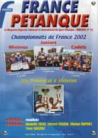 France Pétanque N° 18 - Aout 2002 - - Sport