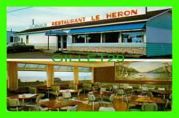 CARLETON-SUR-MER, QUÉBEC - RESTAURANT LE HÉRON - 2 MULTIVUES -  W. SCHERMER - - Gaspé