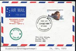 ANTARCTIC,AAT, MACQUARIE ISLAND, 24.101979, ANARE 1979-80, Einkreis-Ersttagsstempel ! - Other