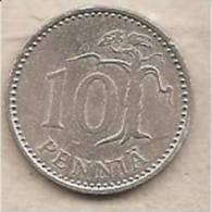 Finlandia - Moneta Circolata Da 10 Pennia - 1984