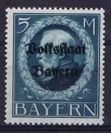 German States: Bayern Michel 131 I A A, MH/*