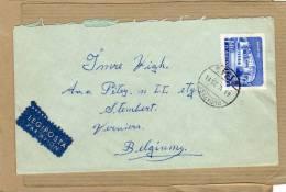 Enveloppe Brief Cover Legiposta Par Avion Budapest à Stembert Verviers Belgium - Ungheria