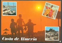 ALMERIA  -   COSTA DE ALMERIA - VISTAS PARCIALES - CIRCULADA - Almería