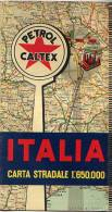 "CARTA STRADALE ITALIA ""PETROL CALTEX"", 1:650.000 Anni '50 - OTTIMA P53 - Europa"