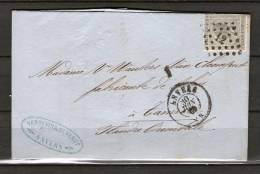 Nr 17 Op Brief Van Anvers Naar Tamise 30/06/1869 - L 12 Anvers (GA5060) - 1865-1866 Profil Gauche