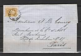 Nr 32 Op Brief Van Anvers Naar Paris 12/05/1878 (GA5173) - 1869-1883 Leopold II