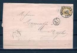 Nr 32 Op Brief Van Bruxelles Naar Naples (Italie) 29/09/1877 (GA5366) - 1869-1883 Léopold II