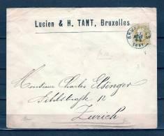Nr 32 Op Brief Van Bruxelles Naar Zurich (Suisse) 27/08/1881 (GA5373) - 1869-1883 Léopold II