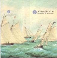 Ancien Dépliant Touristique Sur Le Musée Maritime Drassanes De Barcelone (vers 1995) - Books, Magazines, Comics
