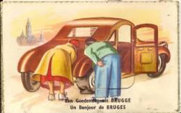 BRUGGE  EEN GOEDENDAG UIT BRUGGE   UN BONJOUR DE BRUGES  SYSTEEMKAART / CARTE A SYSTEME - Brugge