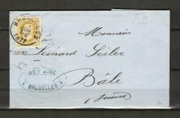 Nr 32 Op Brief Van Bruxelles Naar Bâle (Suisse) 07/07/1877 (GA5363) - 1869-1883 Léopold II