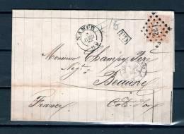 Nr 33 Op Brief Van Namur Naar Beaune (France) PD 08/04/1872 - L 264 Namur (GA6393) - 1869-1883 Léopold II