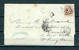 Nr 33 Op Brief Van Bruxelles (Nord) Naar  Marais (France) PD 09/03/1872 - L 63 Bruxelles (Nord) (GA6401) - 1869-1883 Leopold II