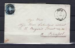 Nr 7 Op Brief Van Moll Naar Bruxelles 20/08/1857 - D 37 Moll (GA6312) - 1851-1857 Medaillons (6/8)